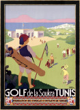 Golf de la Soukra, Tunis Framed Giclee Print by Roger Broders