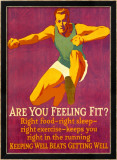Feeling Fit Motivational Framed Giclee Print by Mather 