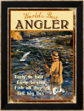 World&#39;s Best Angler Framed Giclee Print