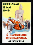 4th Grand Prix, Perpignan, 1949 Framed Giclee Print by Raspaut