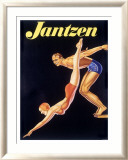 Jantzen Men Womens Swimwear Framed Giclee Print