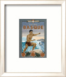 La Cote Basque de Surf Prints by Bruno Pozzo