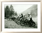 Bultaco Motocross Starting Gate Estampe encadrée