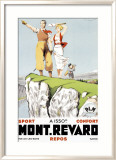 Mont Revard, Tennis and Golf Indrammet giclee-tryk af Paul Ordner
