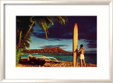 Outrigger and Diamond Head Posters par Stewart Fern