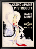 Casino de Paris, Mistinguett Kehystetty giclee-vedos tekijn Zig (Louis Gaudin)