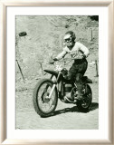 Bultaco Pursang Motorcycle MX Framed Giclee Print