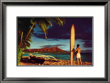 Outrigger and Diamond Head Affiches par Stewart Fern