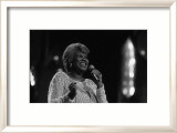 Aretha Franklin in Lights Print