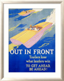 Out in Front Indrammet giclee-tryk