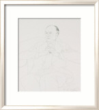 Portrait of Sir John Gielgud, 1977 Limited Edition Framed Print by David Hockney