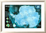 Antarctica Satellite Map Posters