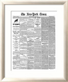 New York Times, April 10, 1865: Union Victory and Peace, Surrender of General Lee Framed Giclee Print
