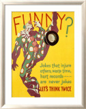 Think Twice Clown Indrammet giclee-tryk