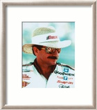 Dale Earnhardt Portrait With Straw Hat Framed Photographic Print