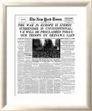 New York Times, May 8, 1945: The War in Europe is Ended! Print