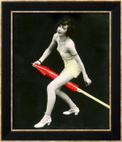 Fourth of July Rocket Girl, c.1925 Gerahmter Giclée-Druck