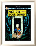 Vol 714 pour Sydney, c.1968 Affiches par Herg&#233; (Georges R&#233;mi) 
