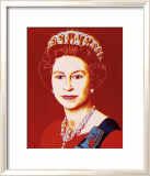 Reigning Queens: Queen Elizabeth II of the United Kingdom, c.1985 (Light Outline) Arte por Andy Warhol