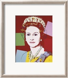 Reigning Queens: Queen Elizabeth II of the United Kingdom, c.1985 (Dark Outline) Láminas por Andy Warhol