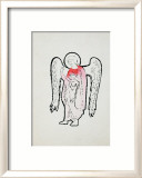 Angel, c.1965-1985 (red with halo) Print by Andy Warhol