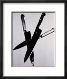 Knives, c.1981-82 (Three Black on Cream) Póster por Andy Warhol