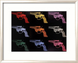 Gun, c.1982 (many/rainbow) Psters por Andy Warhol