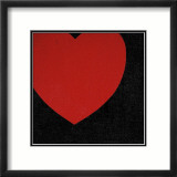 Heart, c.1979 (Red on Black) Prints by Andy Warhol