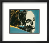 Skull, c.1976 (yellow on teal) Print by Andy Warhol