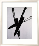 Knives, c.1981-82 (Three Black on Cream) Arte por Andy Warhol