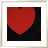 Heart, c.1979 (Red on Black) Affiche par Andy Warhol