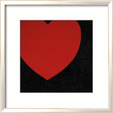 Heart, c.1979 (Red on Black) Affiches par Andy Warhol