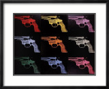 Gun, c.1982 (many/rainbow) Lminas por Andy Warhol