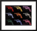 Gun, c.1982 (many/rainbow) Arte por Andy Warhol