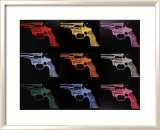 Gun, c.1982 (many/rainbow) Art by Andy Warhol