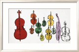 Eleven String Instruments, c.1957 Prints by Andy Warhol