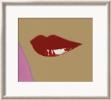 Page from Lips Book, c.1975 Poster by Andy Warhol