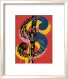 Dollar Sign, c.1981 (black and yellow on red) Pósters por Andy Warhol