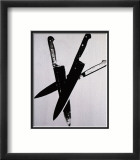 Knives, c.1981-82 (Three Black on Cream) Láminas por Andy Warhol