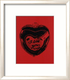 Heart, c.1984 (I Love You) Láminas por Andy Warhol