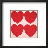 Hearts, c.1979-84 Art par Andy Warhol