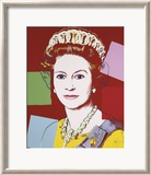 Reigning Queens: Queen Elizabeth II of the United Kingdom, c.1985 (Dark Outline) Pósters por Andy Warhol