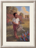 Child with Watering Can Art by Tim Ashkar