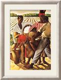 Cotton Pickers Art by Earle Wilton Richardson
