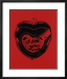 Heart, c.1984 (I Love You) Posters by Andy Warhol