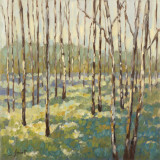Trees in Blue Green Kunstdrucke von Libby Smart
