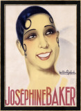 Josephine Baker Framed Giclee Print by Gaston Girbal