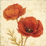 Poppy Bouquet I Poster by Daphne Brissonnet