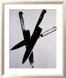 Knives, c.1981-82 (Three Black on Cream) Pósters por Andy Warhol
