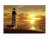 Lighthouse at Sunset Print by Carlos Casamayor